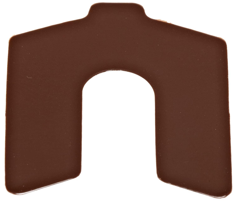 PVC (Polyvinyl Chloride) Slotted Shim, Brown, 0.010