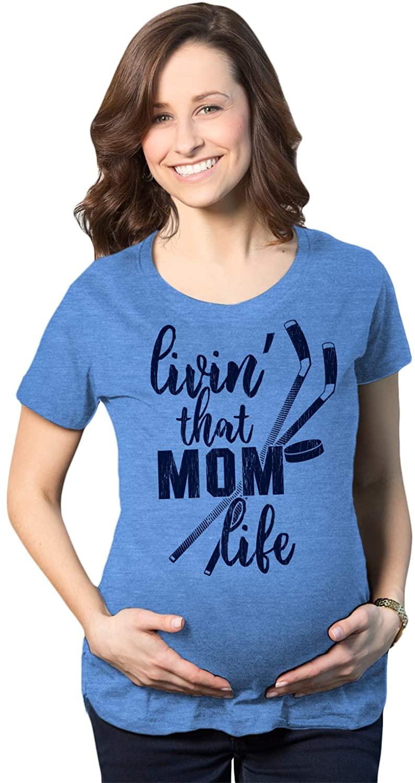 Maternity Living That Hockey Mom Life Tshirt Cute Sports Tee