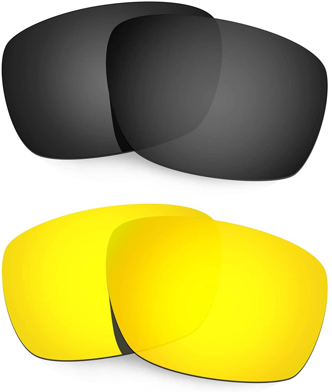 HKUCO Reinforce Replacement Lenses for Oakley Tinfoil Carbon Black/24K Gold Sunglasses