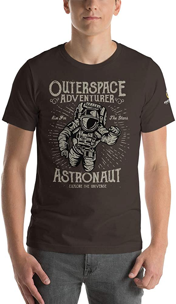 AnarchoCoffee Outer Space Adventurer Short-Sleeve Unisex T-Shirt Brown