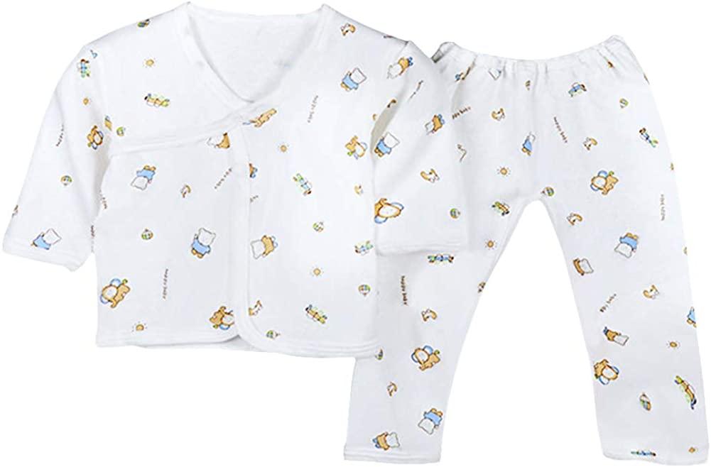 XuBa 2pcs/set Baby Newborn Underwear Clothes Long Sleeve Tops + Pants Fashion Suit Yellow flower Newborn 0-3M