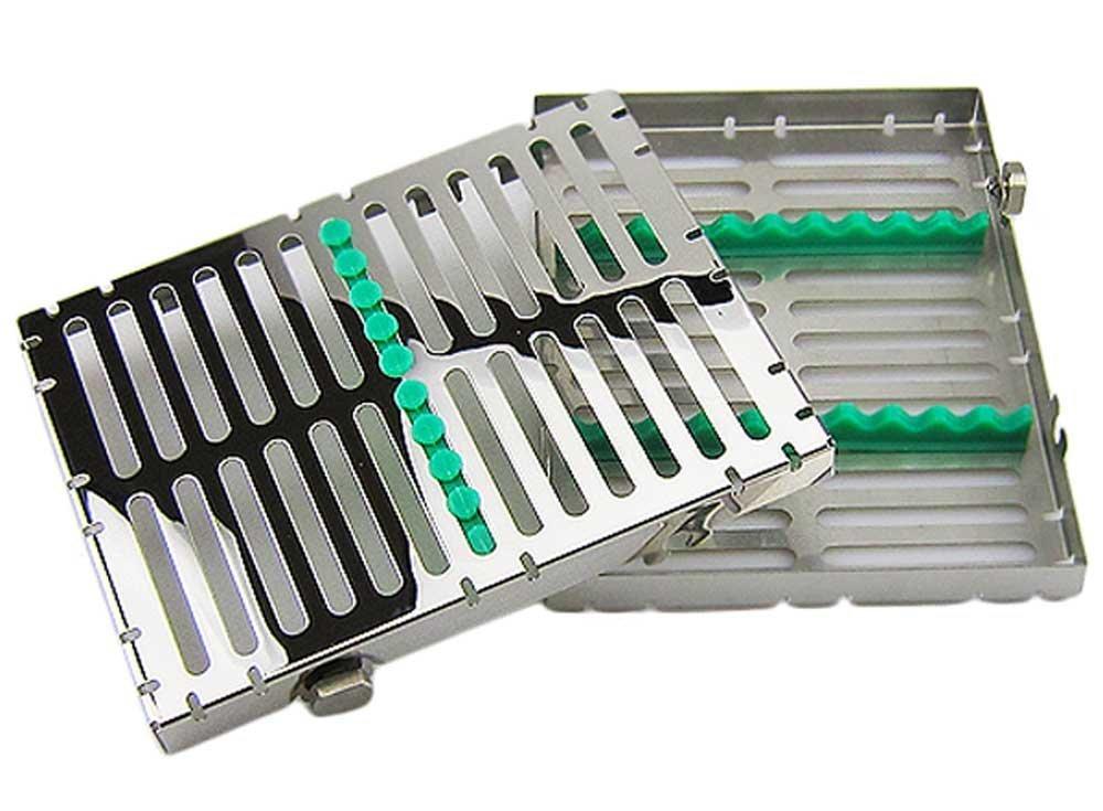 10-Slot Sterilization Cassette Rack for 10 Dental Surgical Instrument Autoclavable