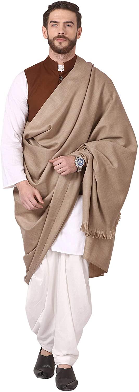 Pashtush Mens Thick Pure Wool Lohi, Luxurious 100% Pure Australian Merino Wool, Woolmark Certified (Oaky Wood)