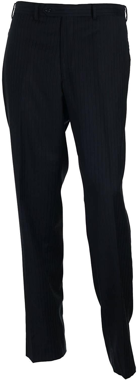 Alfani Red Men's Blue Pinstripe Flat Front Dress Pants