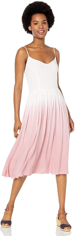 BB Dakota Women's Pink Sunset Dip Dye Midi Dress