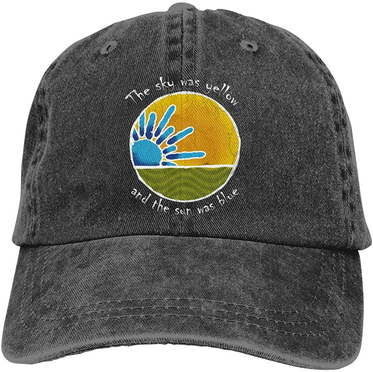 PANVCDY Sky was Yellow Sun was Blue - Scarlet Begonias Inspired Adjustable Unisex Hat Baseball Caps Black