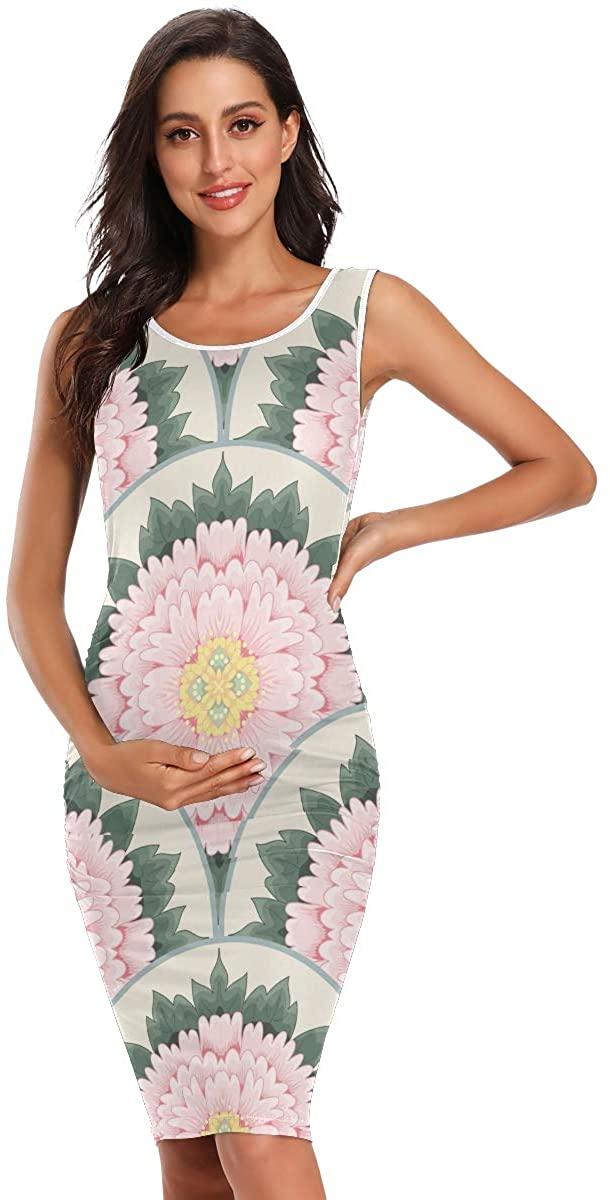 Lianmei Maternity Dress Women Summer Sleeveless Daily Wearing Plus Size Dresses Leisure