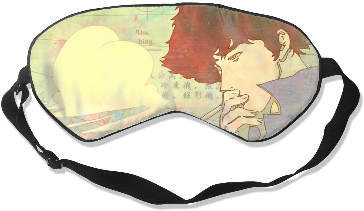 WushXiao Luanelson Cowboy Bebop Fashion Personalized Sleep Eye Mask Soft Comfortable with Adjustable Head Strap Light Blocking Eye Cover