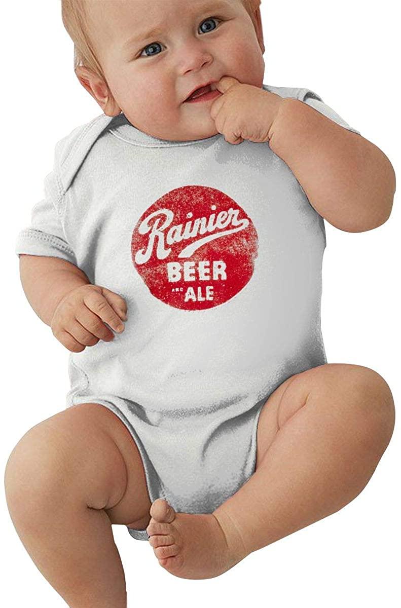 Pjj Rai-Nier Beer Logo Baby Climbing Clothes Short Sleeved Comfortable Soft Cotton 100%