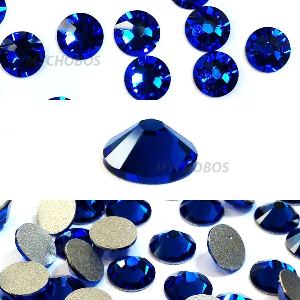 CAPRI BLUE (243) Swarovski NEW 2088 XIRIUS Rose 12ss 3mm flatback No-Hotfix rhinestones ss12 nail art 144 pcs (1 gross)