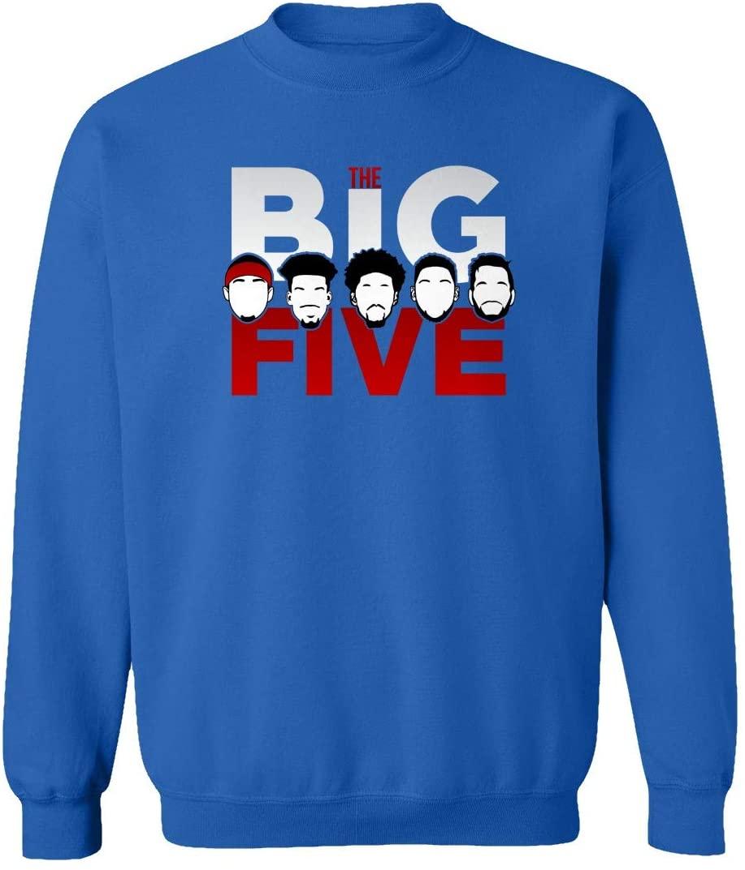 SMARTZONE New Graphic Shirt Philadelphia The Big Five Basketball Unisex Youth Sweatshirt Crewneck Sweater (Royal, Youth X-Large)