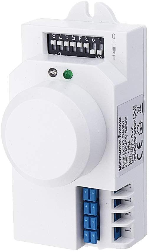 ILS - Intelligent Microwave Sensor Switch AC220V-240V Human Body Induction Sensor Corridor Photoelectric Sensor