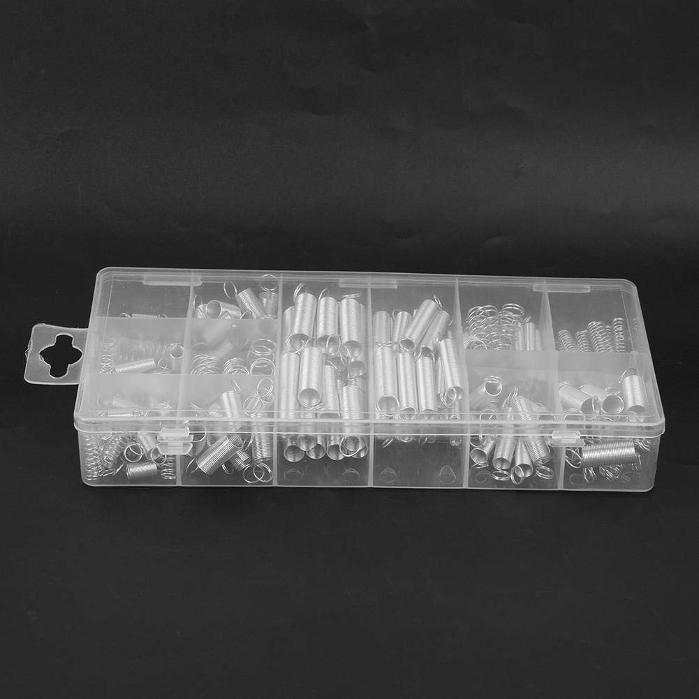 Steel Pressure Spring 200pcs 20 Specifications Box-Packed Tension Spring Industrial Accessory(200PC Spring)