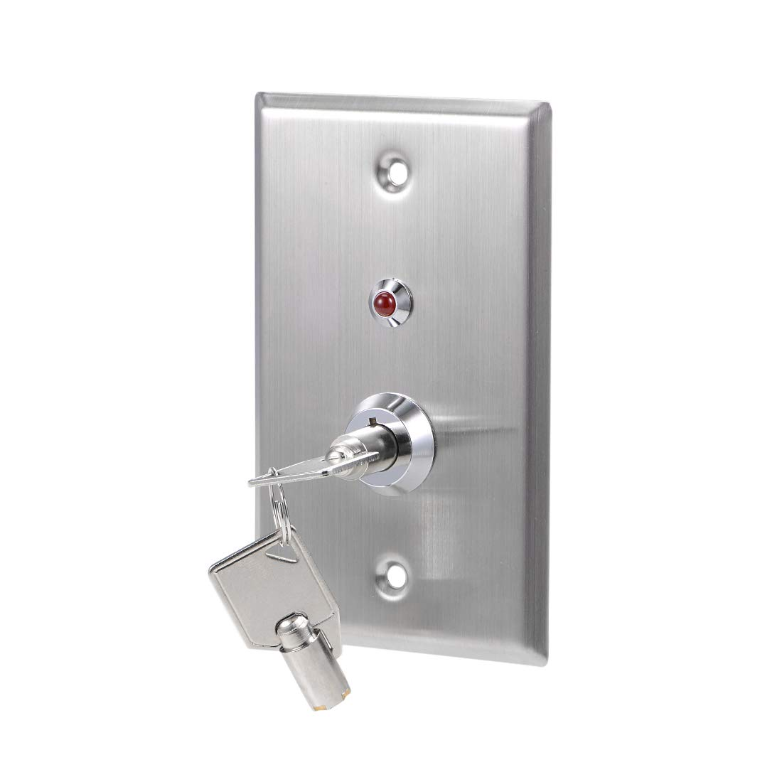 uxcell Key Switch On-Off Exit Switches Emergency Door Release SPST for Access Control w DC 12V Red LED Indicator