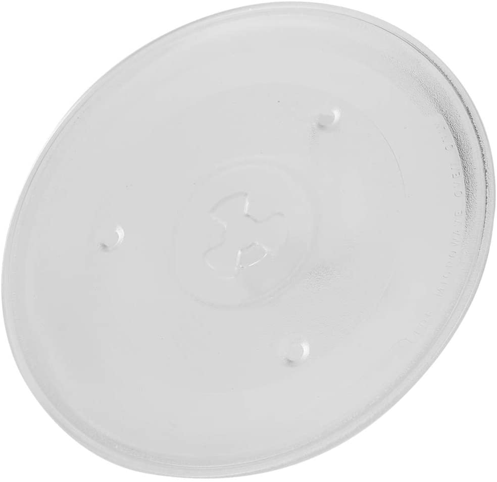OSALADI Microwave Oven Glass Tray Microwave Turntable Plate Replacement Transparent Round Rotating Dish Tray for Home Kitchen Restaurant 27cm