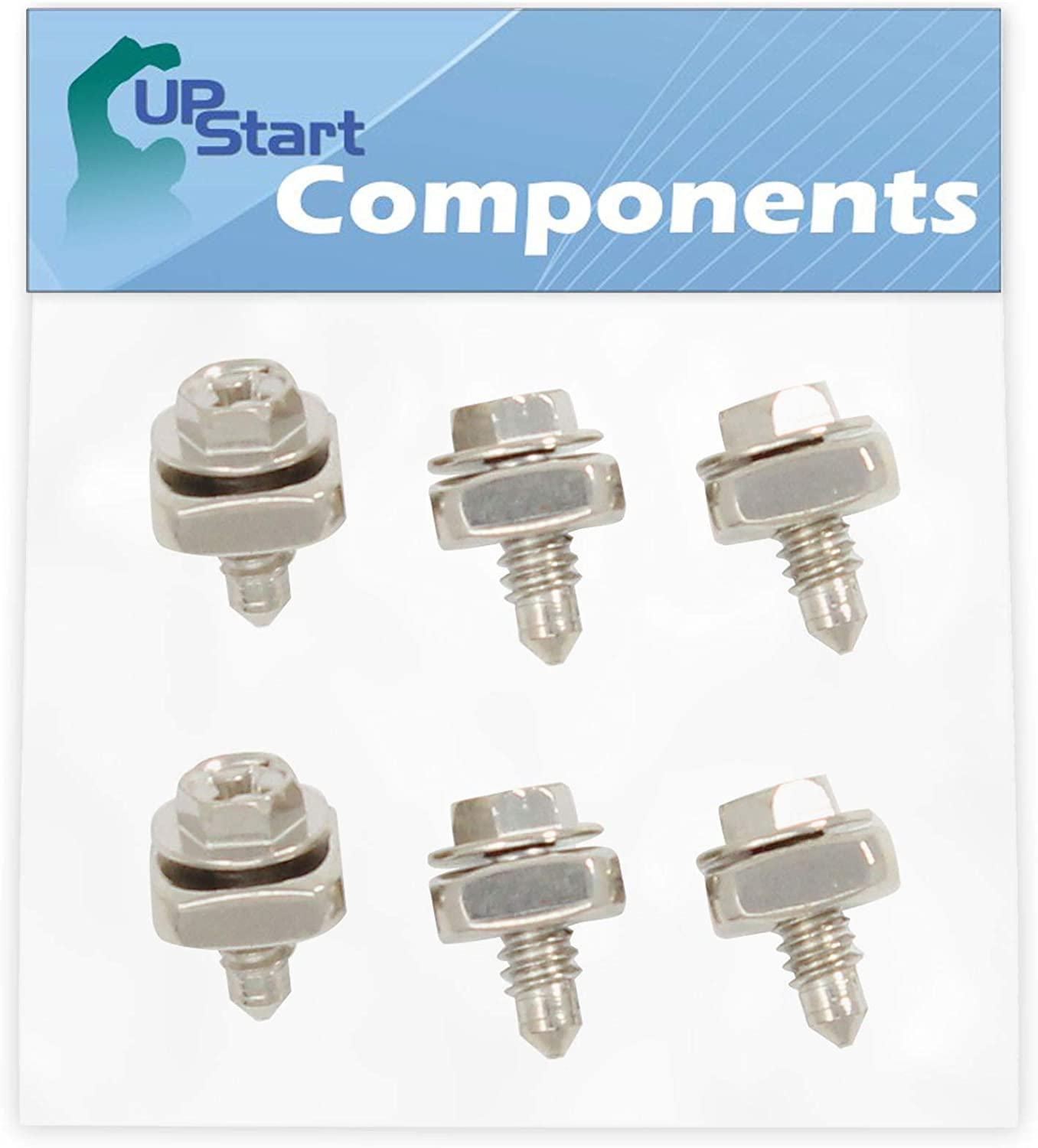 6-Pieces 279393 Dryer Cord Screw Kit Replacement for Kenmore/Sears 110.85089400 Dryer - Compatible with 279393 Terminal Block Screw Kit