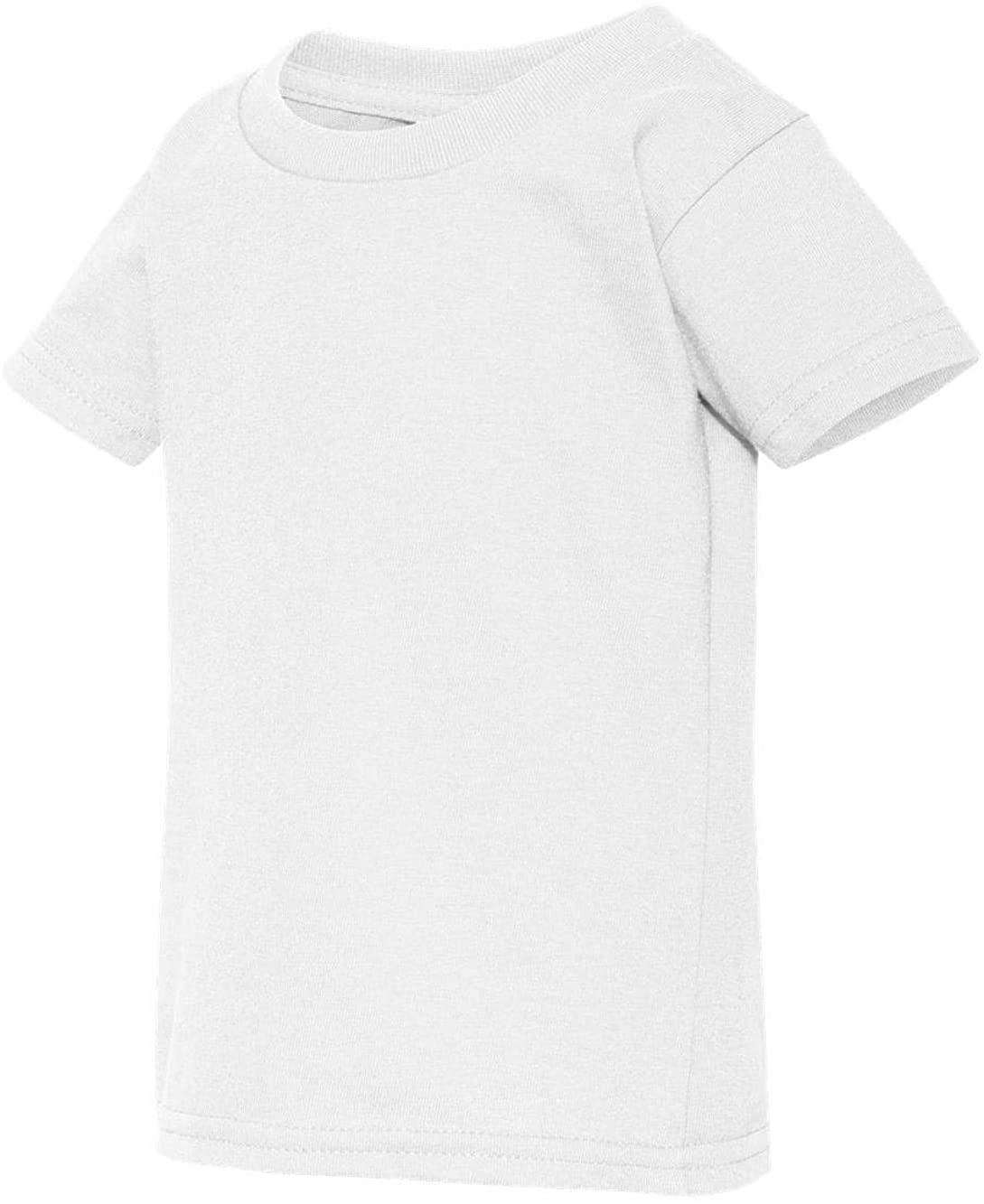 Gildan Todler Boy's Heavy Cotton™ 5.3 oz. T-Shirt, White, 4T