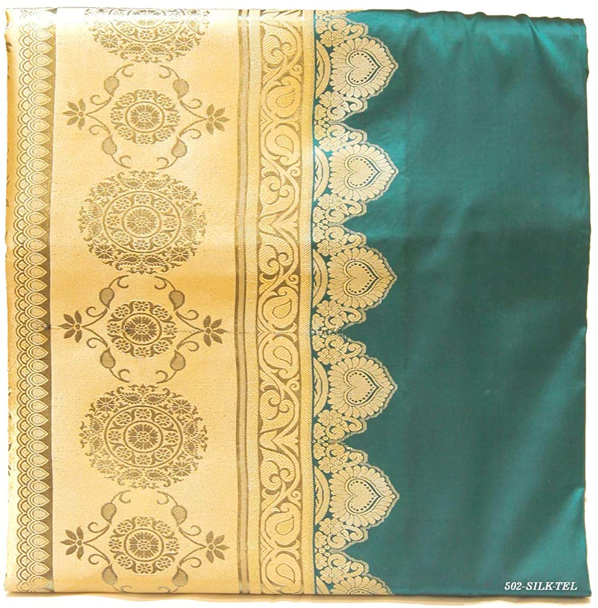 Pure Silk Saree for Women Kanchipuram Kanjivaram Pattu Sari Handloom Banarasi Silk Tussar Silk Mysore Silk Teal