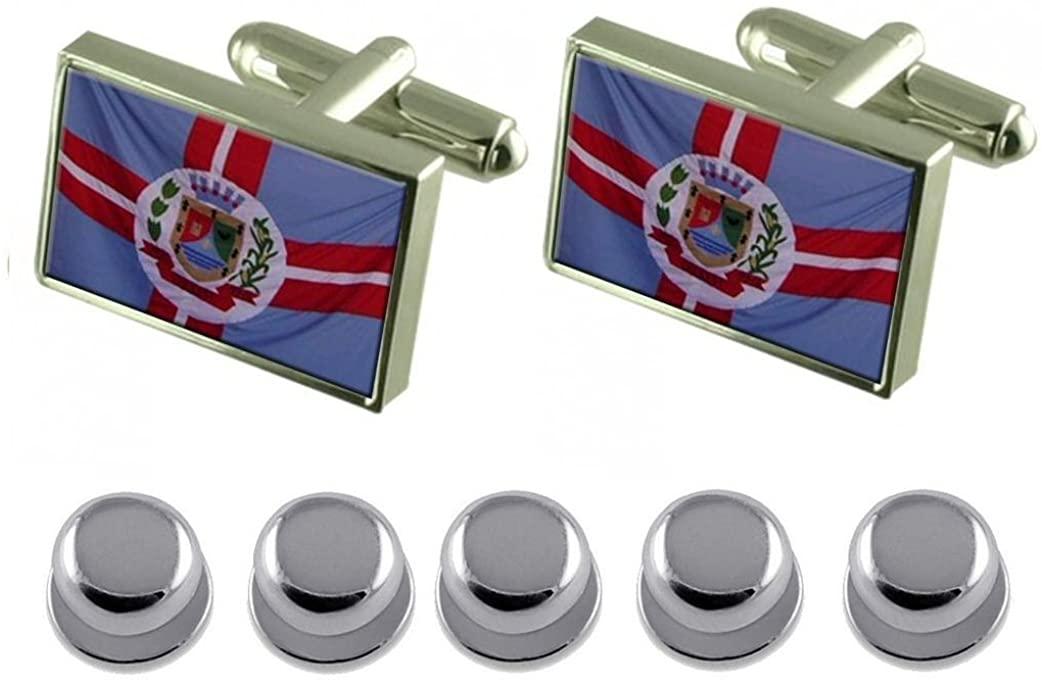 Select Gifts Shirt Dress Studs Galileia City Minas Gerais State Flag Cufflinks