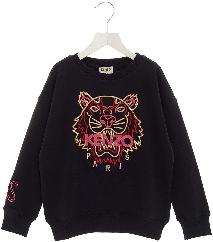 Kenzo Luxury Fashion Boy KP1522802 Black Cotton Sweatshirt | Spring Summer 20