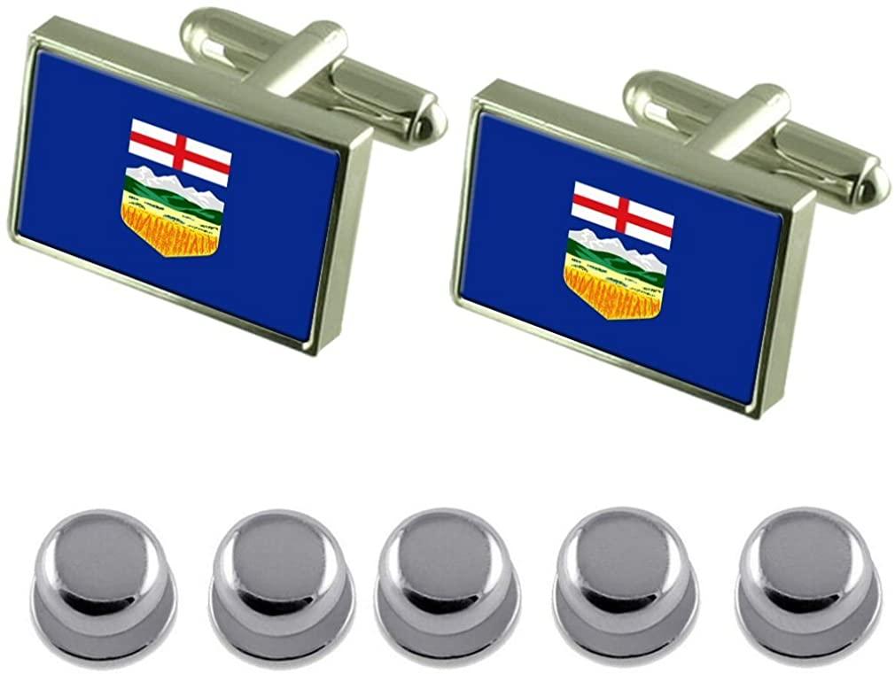 Select Gifts Shirt Dress Studs Alberta Flag Cufflinks
