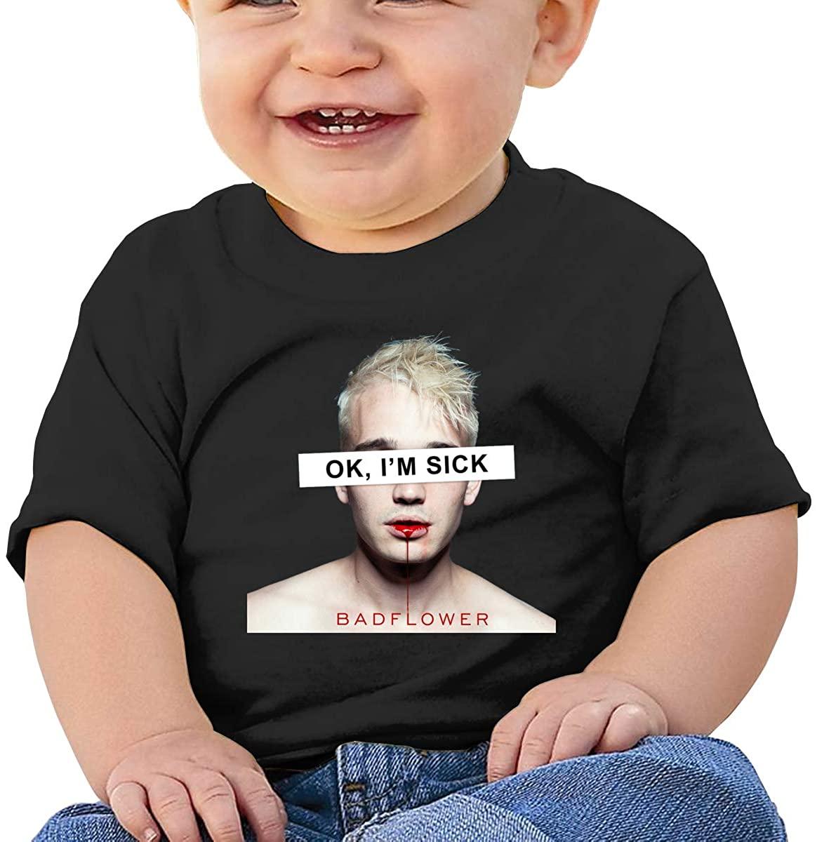 Short-Sleeved Colorful Comfortable Creative Shirt Badflower Baby T-Shirt