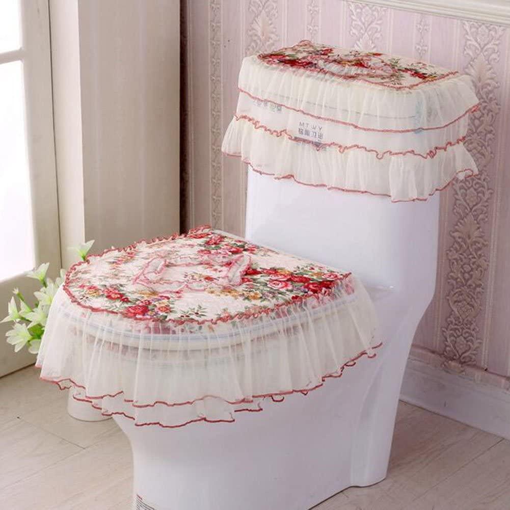 HUAN Toilet Pad Three-Piece Set Toilet Seat Cover Soft Bathroom Mat Set U-Zipper Seat Ring (Color : 6)