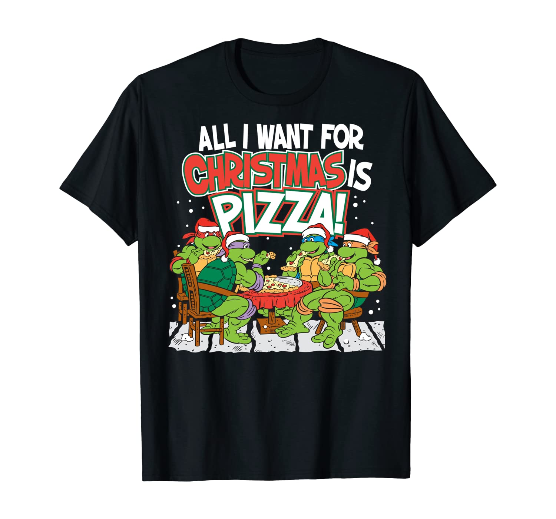 Teenage Mutant Ninja Turtles Pizza For Christmas T-Shirt