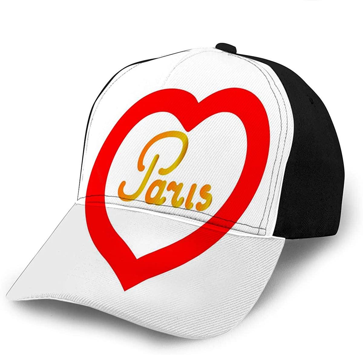 Baseball Caps Hats Heart Around Paris As Symbol of Linked Sports Cap Champion Ha