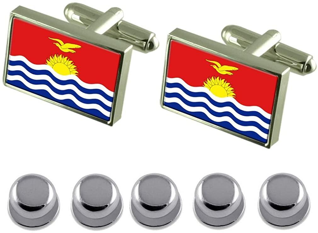 Select Gifts Shirt Dress Studs Kiribati Flag Cufflinks