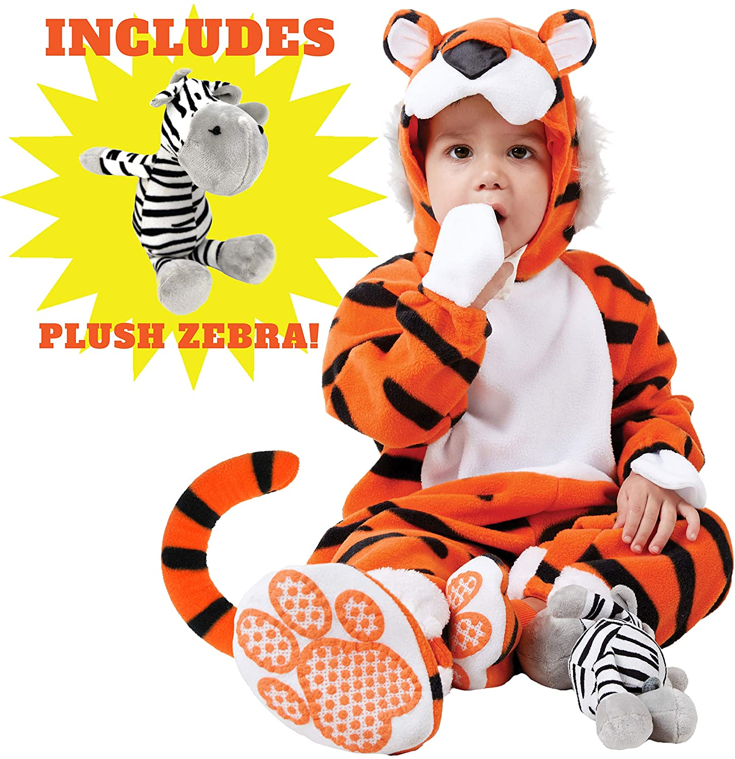 Spooktacular Creations Deluxe Baby Tiger Costume Set (6-12 Months)