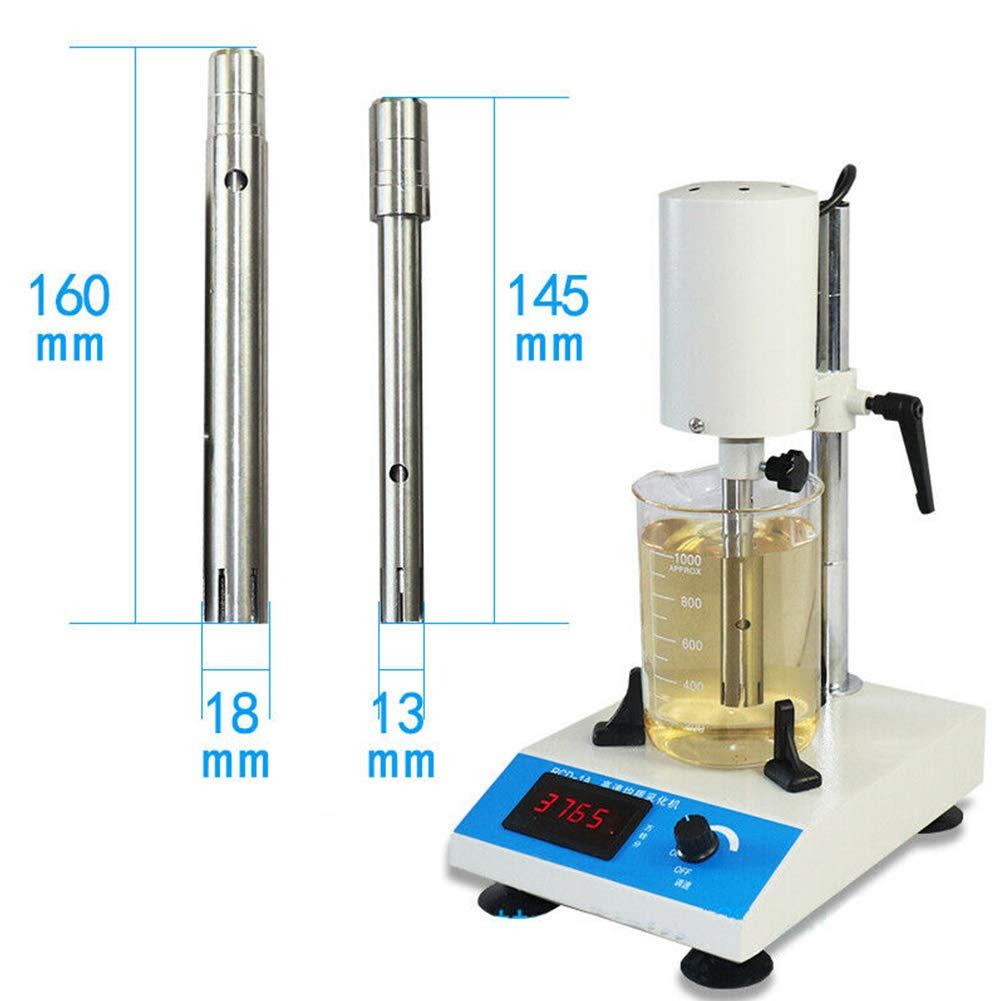 220V 300W Dispersion Homogenizer, Adjustable High Speed Emulsifying Homogenizer Laboratory Dispenser 10~1000ml US Stock