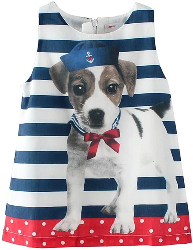 Mud Kingdom Fun Little Girl Dresses Nautical Puppy Pattern