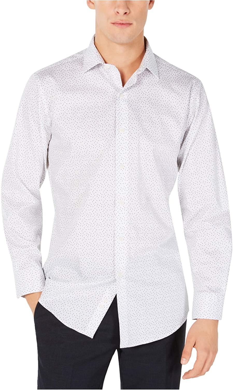 Bar III Mens Scattered Dot Button Up Dress Shirt