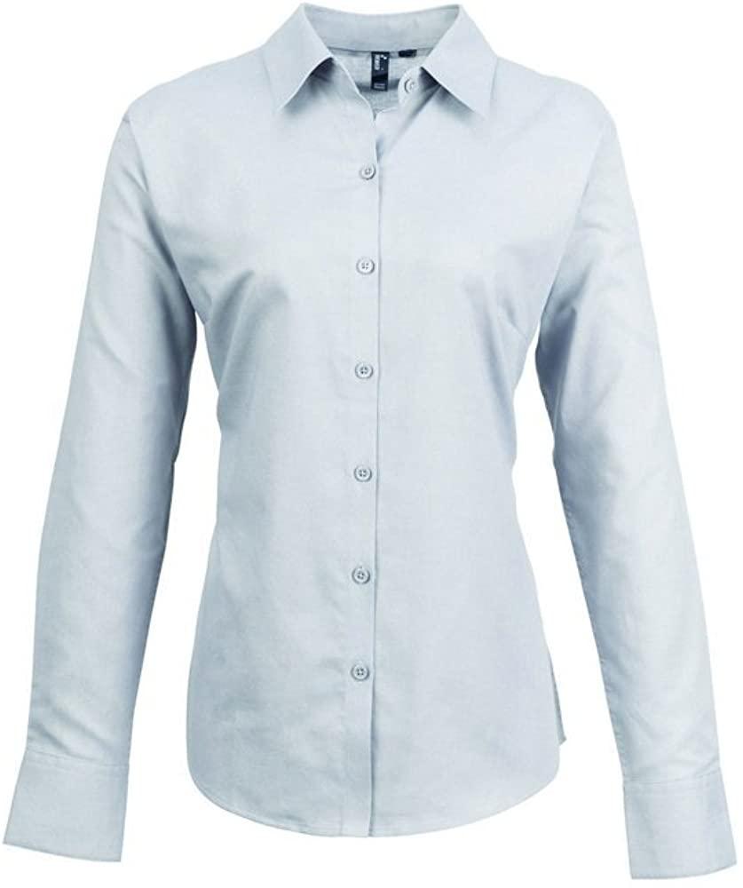 Premier Women's Signature Oxford Long Sleeve Plain Work Shirt