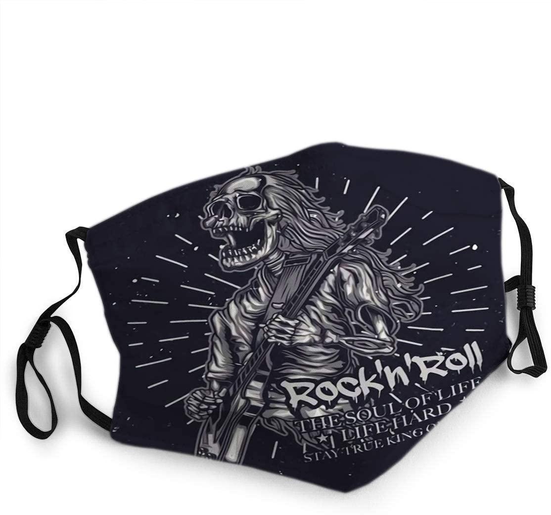 Face Scarf,Facial Scarf,Face Cloth,Face Guard,Of Skeleton Playing Guitar Face Cloth,20x15cm