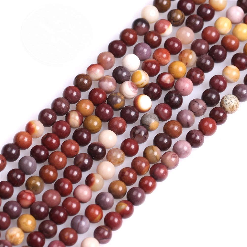 GEM-inside Natural 4mm Mookaite Jasper Gemstone Loose Beads Round Crystal Energy Stone Power for Jewelry Making 15
