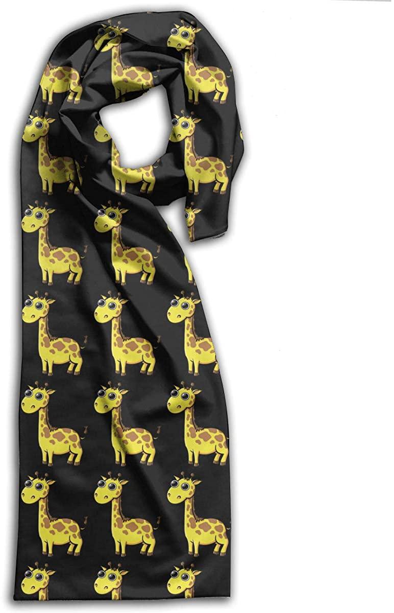 Giraffe Cartoon Cute Adult Scarf Winter Warm Wraps Shawls Neckerchief