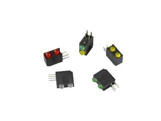 BIVAR H201CBC H201CBC Series 90° T-1 HE Red/Green Bi-Level LED Assembly - 25 Item(s)