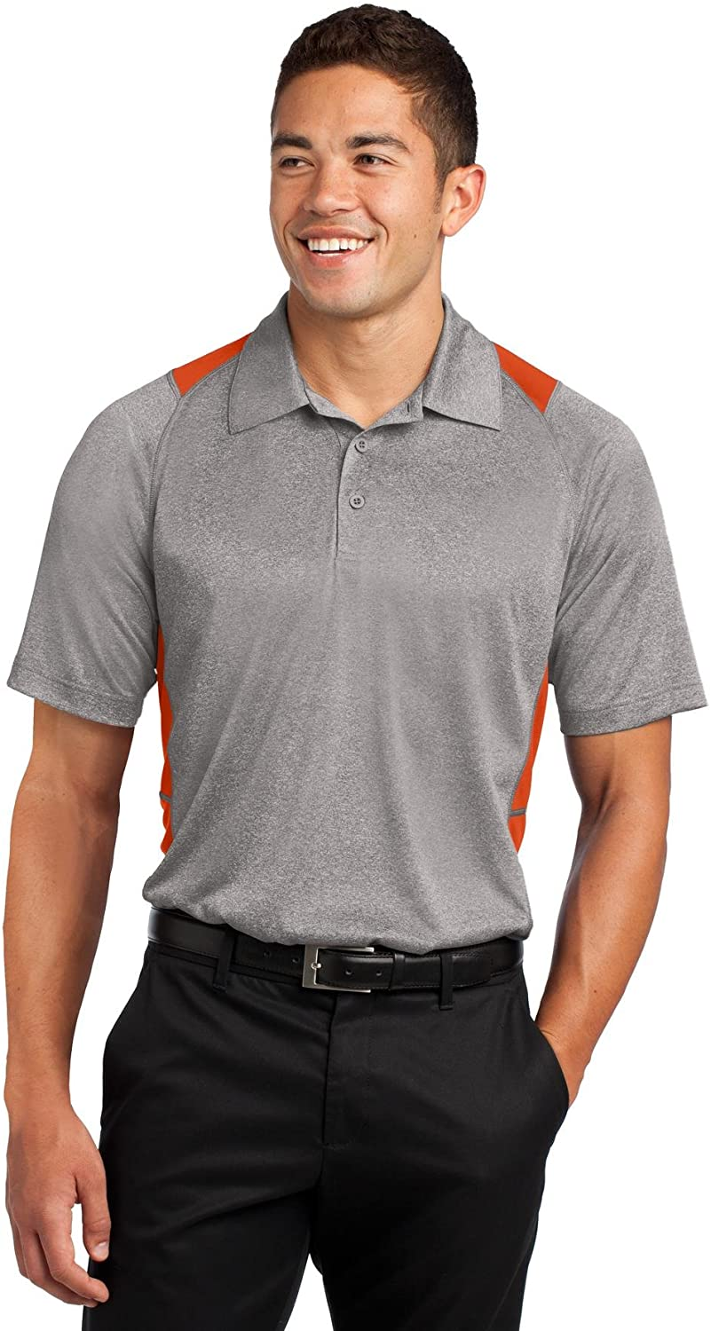 SPORT-TEK Men's Heather Colorblock Contender Polo