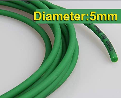 Ochoos 10Meters/Lot Diameter:5mm Green PU Industrial Round Conveyor Belt