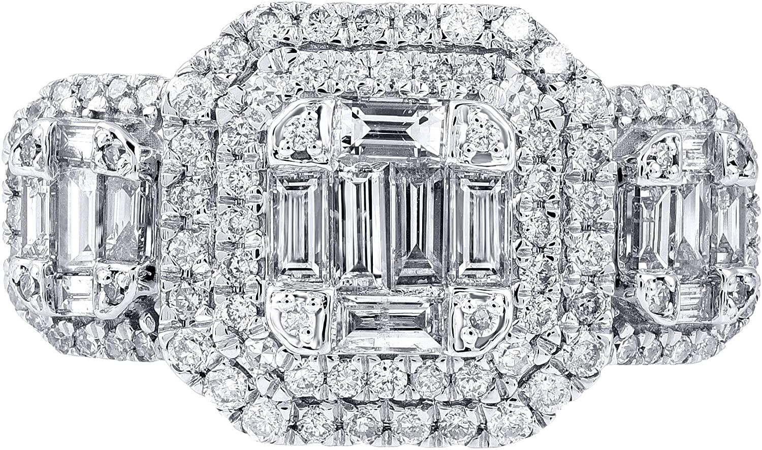 TJD 14K Gold 1.00 Carat Natural Diamond Ring (H-I Color, I2-I3 Clarity) Diamond Ring for Women Diamond Jewelry Gifts for Women