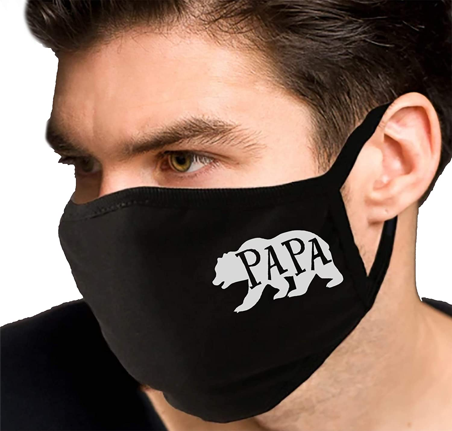 Papa Bear Washable Funny Face Mask