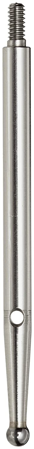 Brown & Sharpe TESA 01866004 Stainless Steel Contact Point with Carbide Ball Tip, 36mm Length, M1.6 Thread, 2mm Stem Dia.