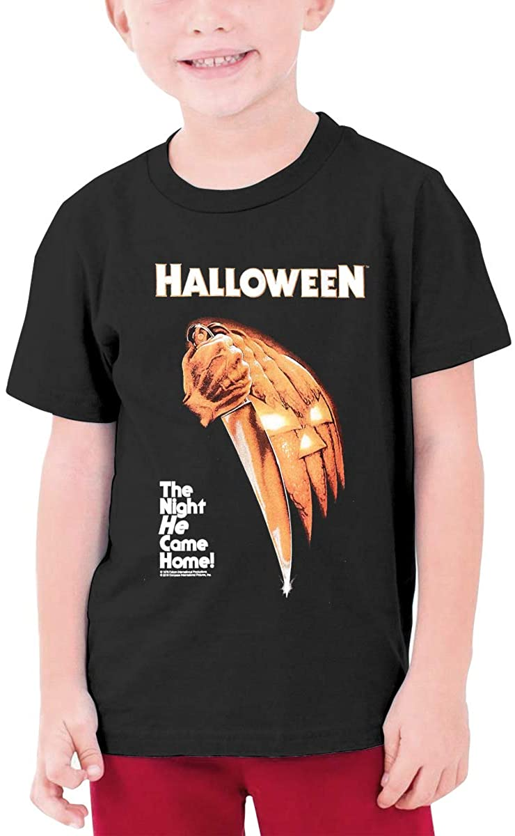 Young-Boymichael Myers Halloween Youth Round Neck T-Shirt for Boys.