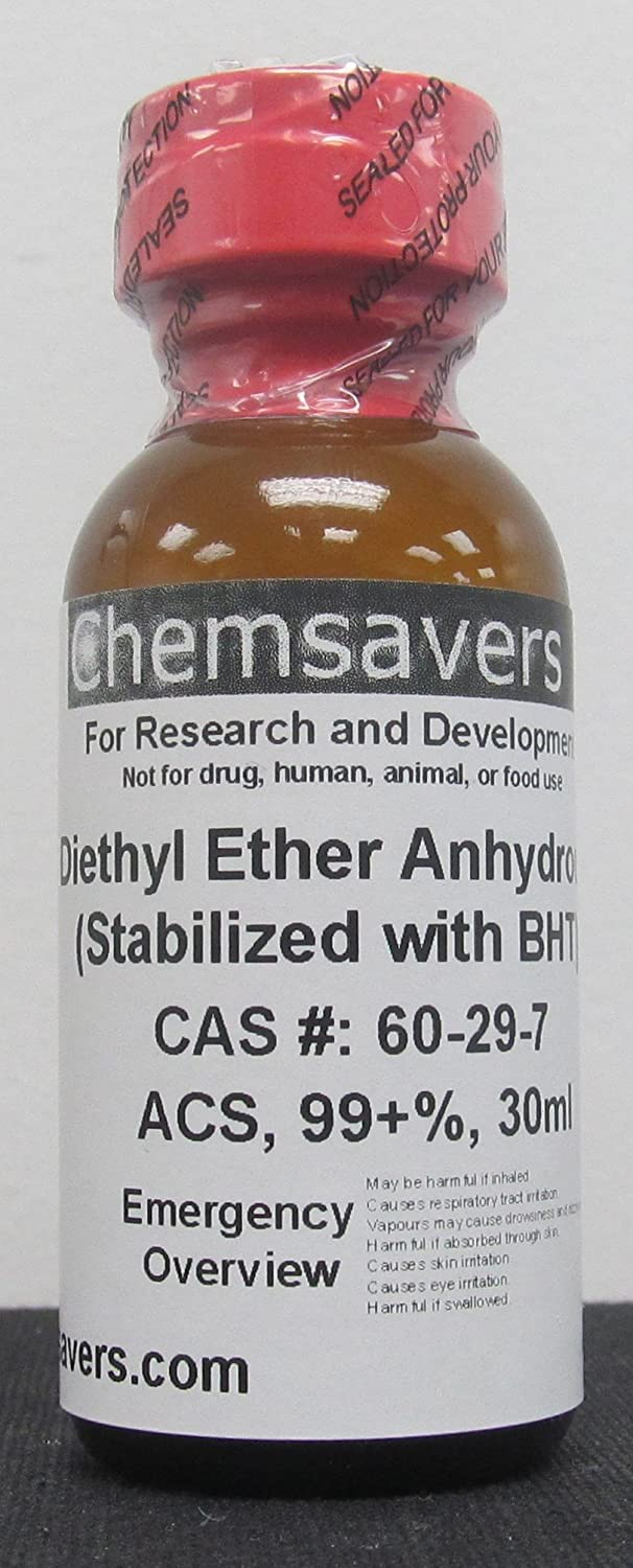 Diethyl Ether, ACS, 99+%, 30ml (for Photographic Applications)