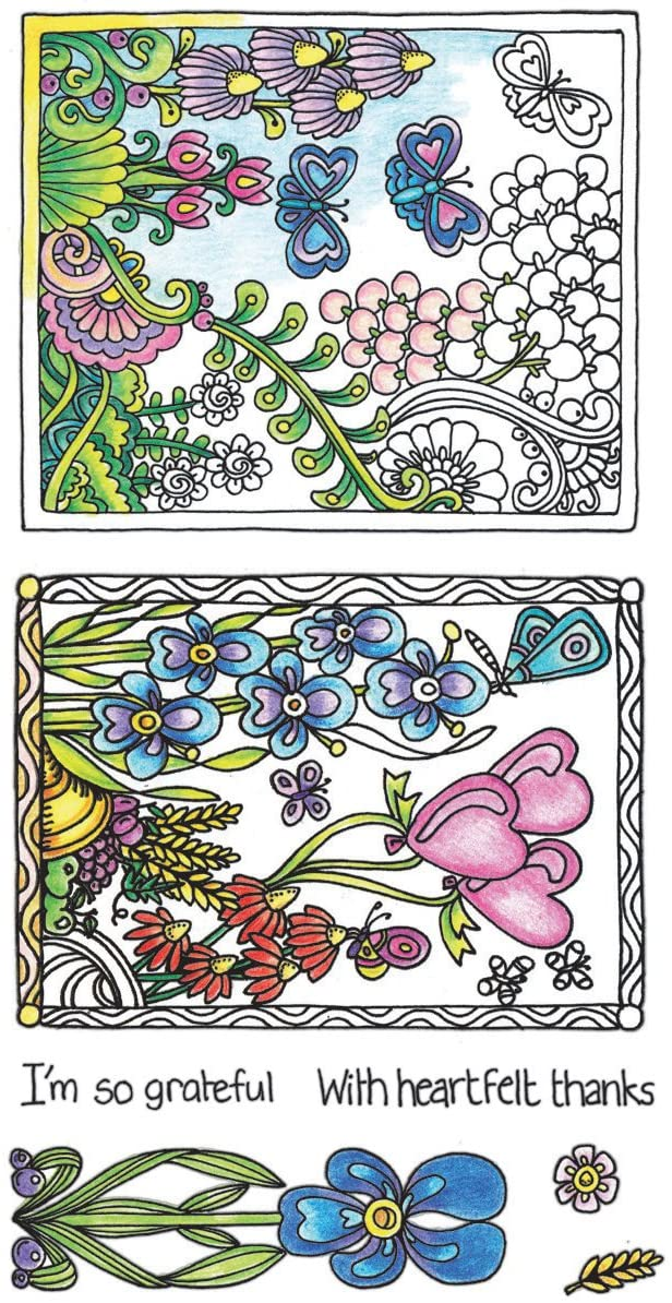 Hampton Arts Color Me Clear Stamps ~ Butterflies