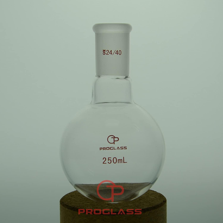 24/40 Glass Single Neck Round Bottom Boiling Flask 250 mL