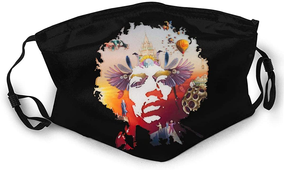 Jimi Hendrix Adult Outdoor Sports Windproof Dustproof Face Towel Headscarf Scarf Sunscreen