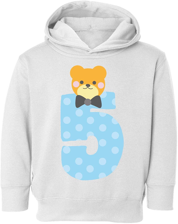Awkward Styles Fifth Birthday Boy Toddler Hoodie Funny Bear Fleece Hooded Sweatshirt for Kids